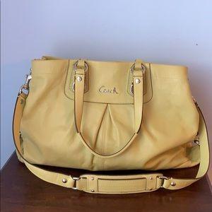 Coach full grain cowhide leather bag